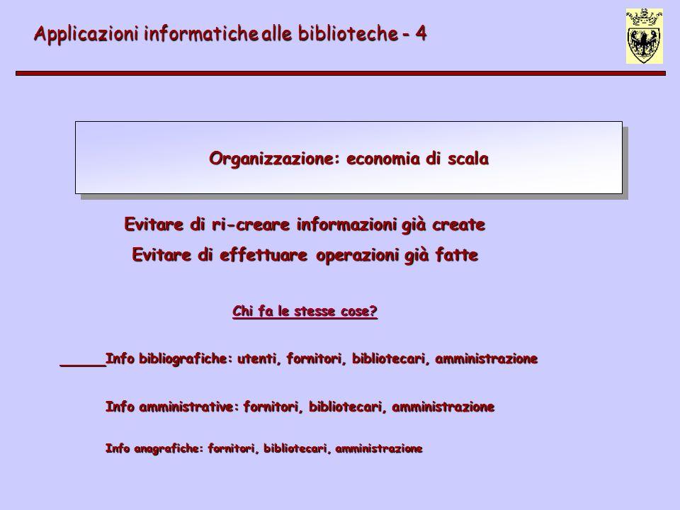 Organizzazione: economia di scala