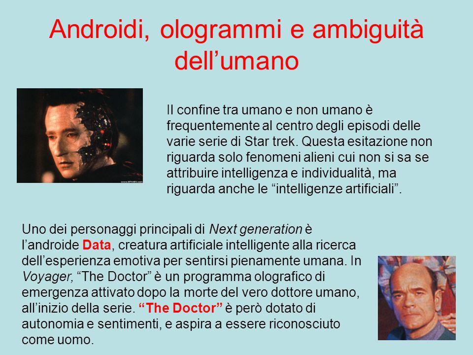 Androidi, ologrammi e ambiguità dell'umano