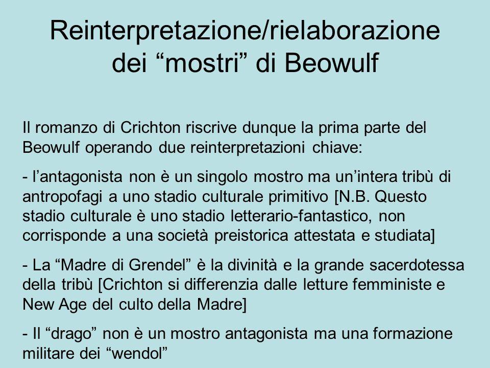 Reinterpretazione/rielaborazione dei mostri di Beowulf