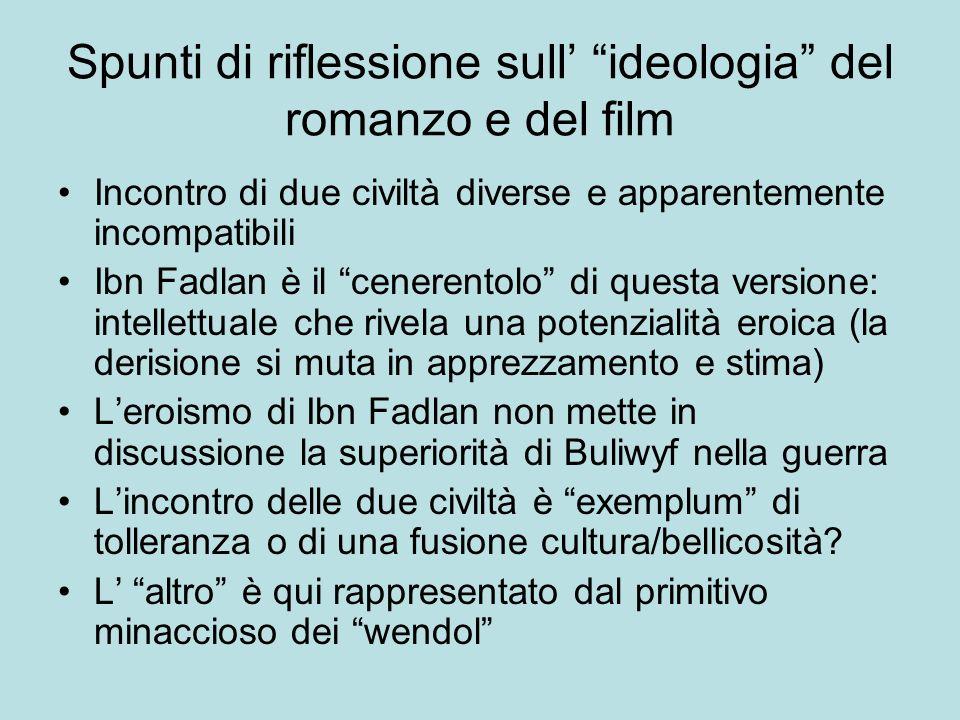 Spunti di riflessione sull' ideologia del romanzo e del film