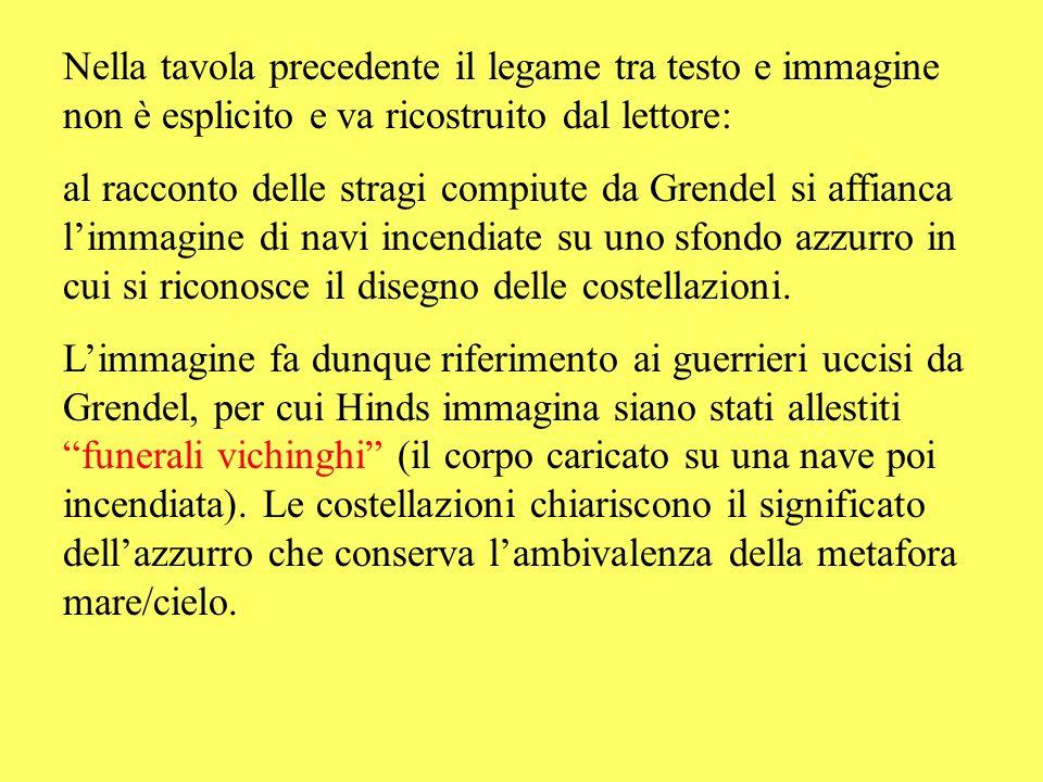 Nella tavola precedente il legame tra testo e immagine non è esplicito e va ricostruito dal lettore: