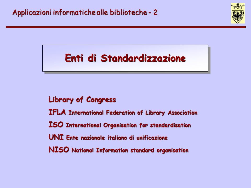 Enti di Standardizzazione