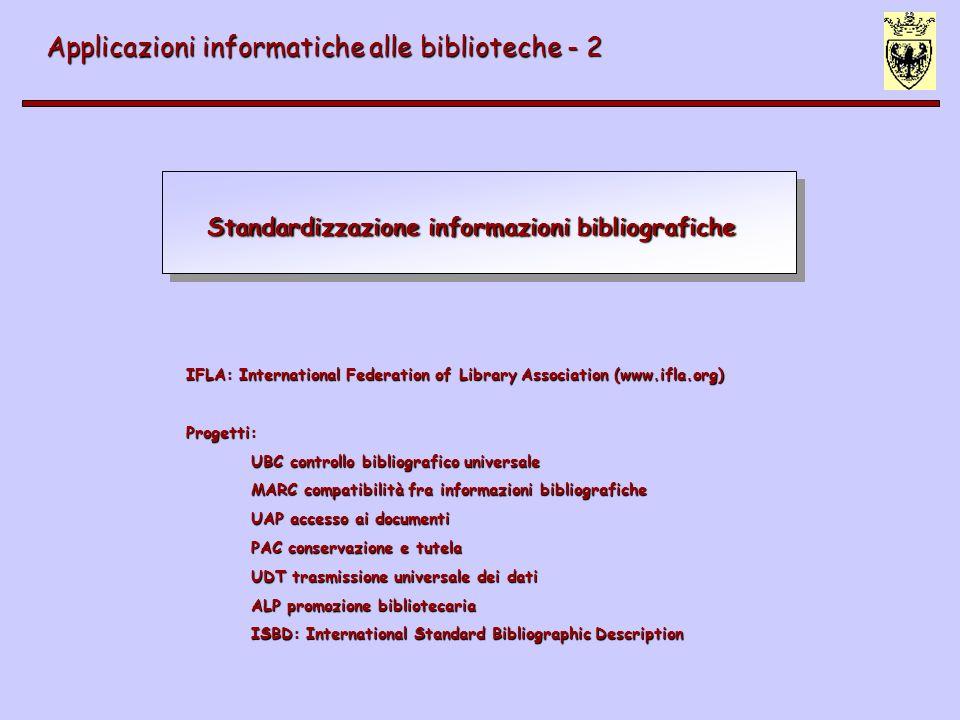 Standardizzazione informazioni bibliografiche