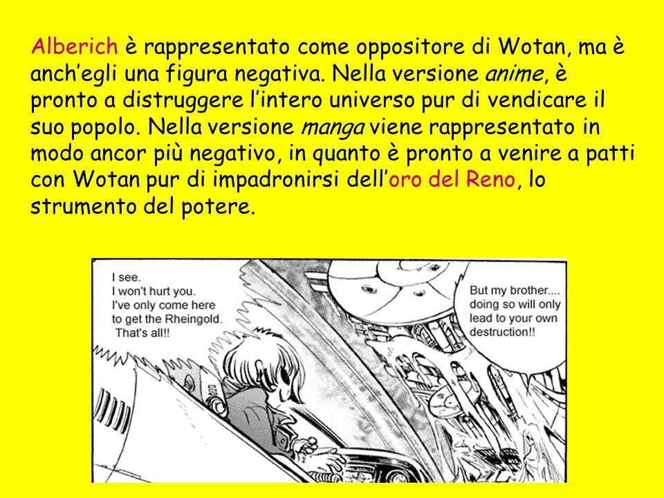 Alberich è rappresentato come oppositore di Wotan, ma è anch'egli una figura negativa.
