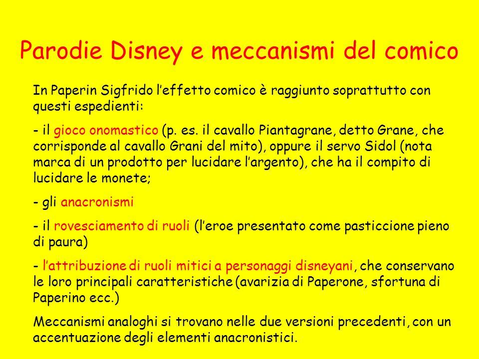Parodie Disney e meccanismi del comico