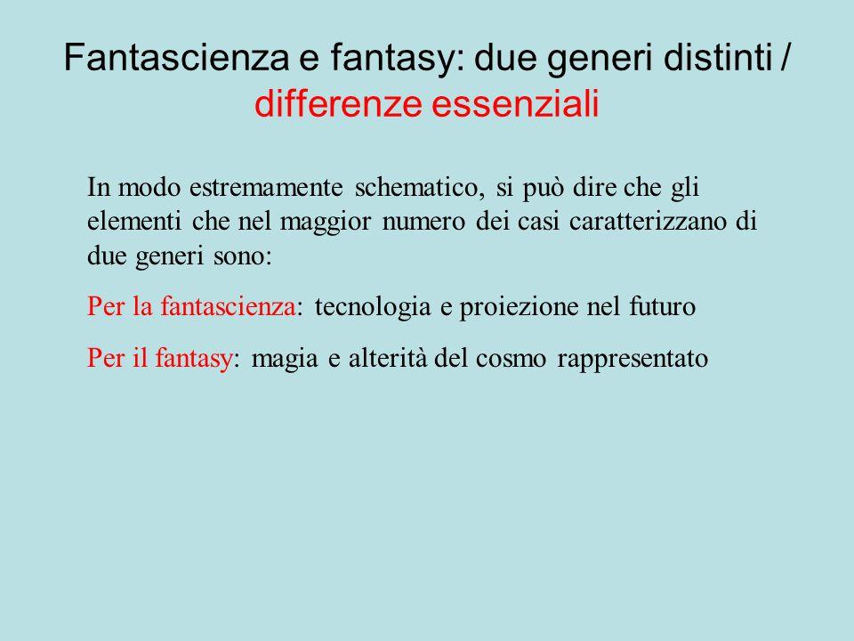 Fantascienza e fantasy: due generi distinti / differenze essenziali