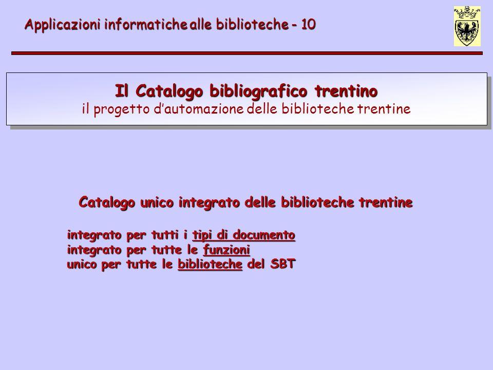 Il Catalogo bibliografico trentino