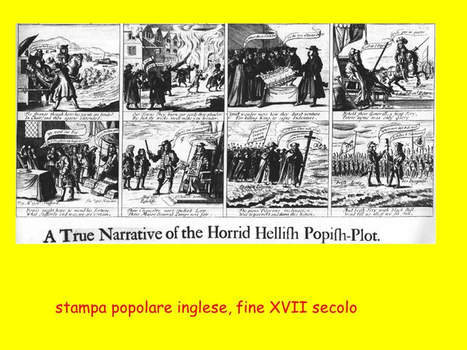 stampa popolare inglese, fine XVII secolo