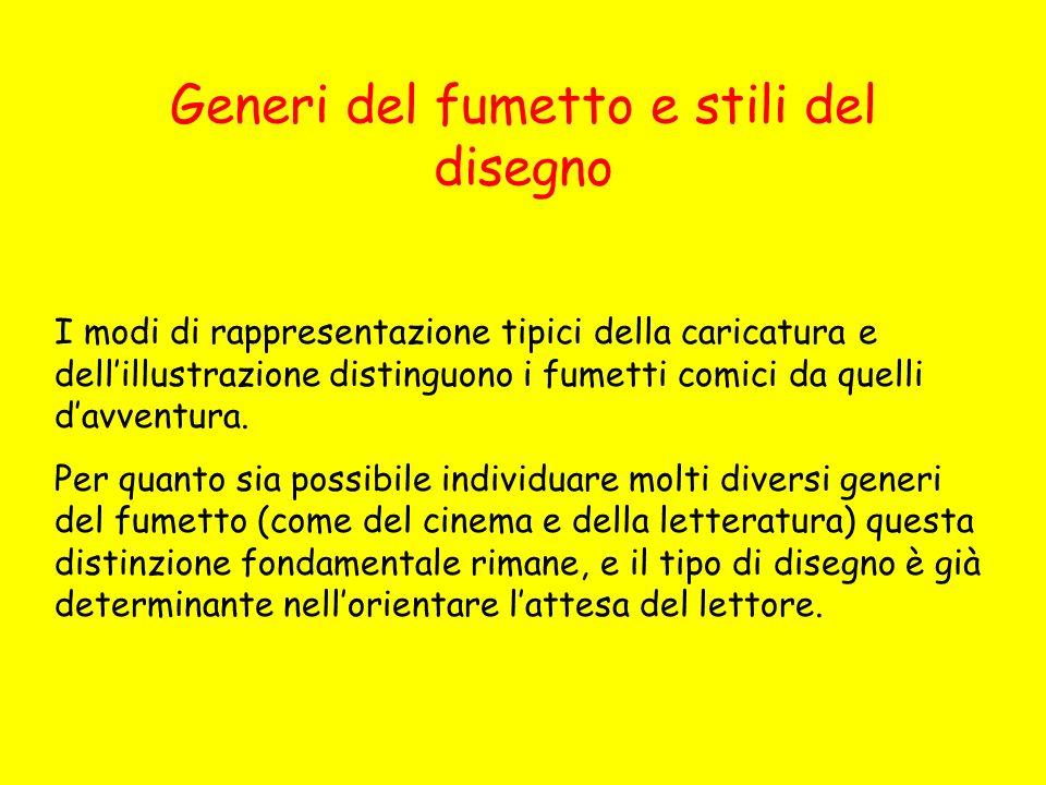 Generi del fumetto e stili del disegno