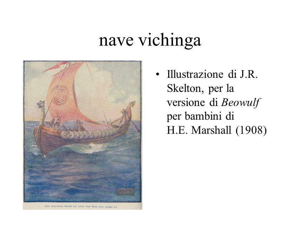 nave vichinga Illustrazione di J.R. Skelton, per la versione di Beowulf per bambini di H.E.