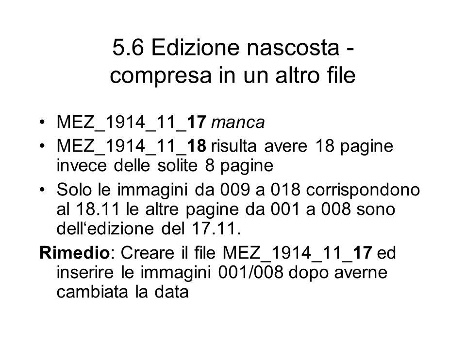 5.6 Edizione nascosta - compresa in un altro file