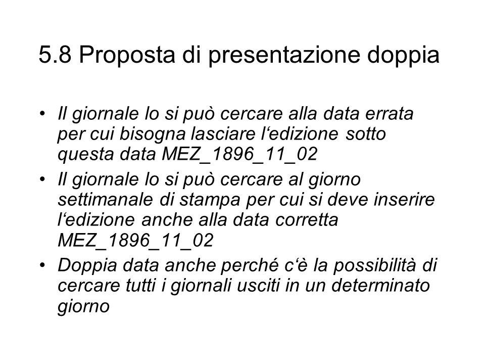 5.8 Proposta di presentazione doppia
