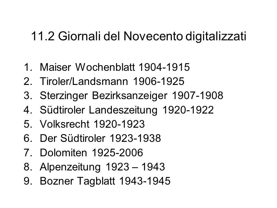 11.2 Giornali del Novecento digitalizzati