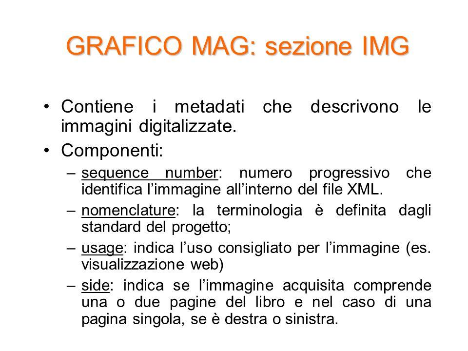 GRAFICO MAG: sezione IMG