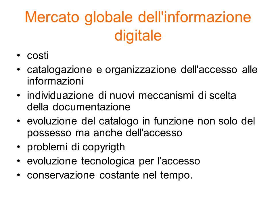 Mercato globale dell informazione digitale