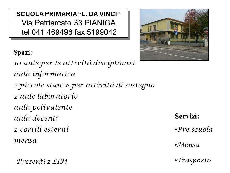 Via Patriarcato 33 PIANIGA tel 041 469496 fax 5199042