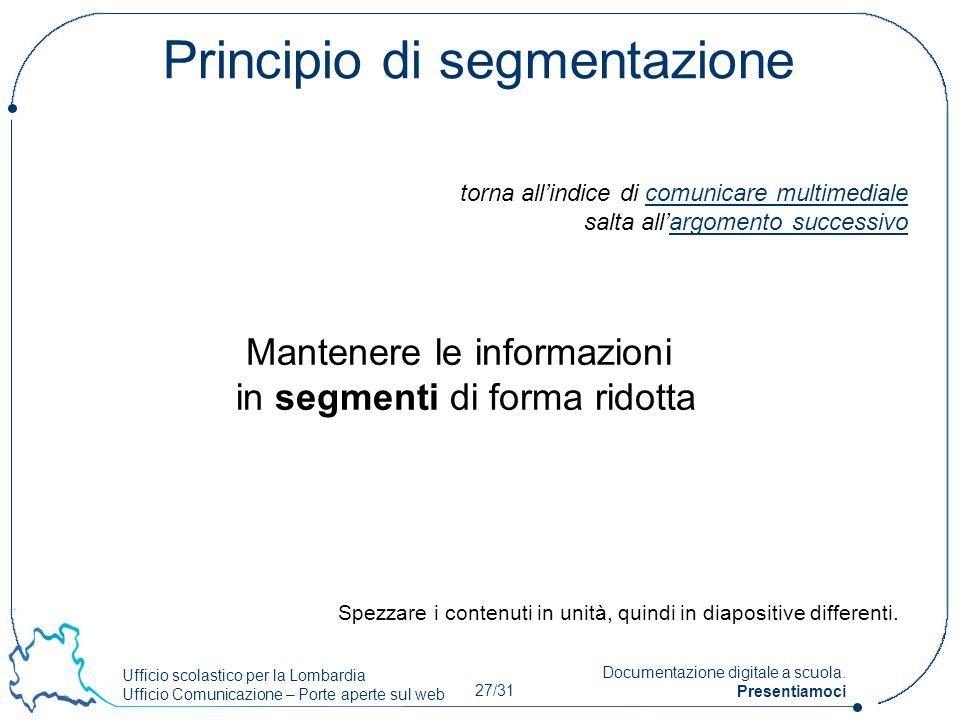 Principio di segmentazione