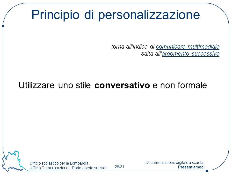 Principio di personalizzazione