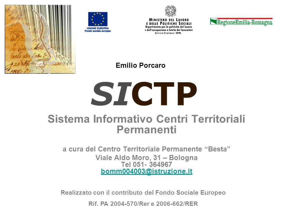 SICTP Sistema Informativo Centri Territoriali Permanenti