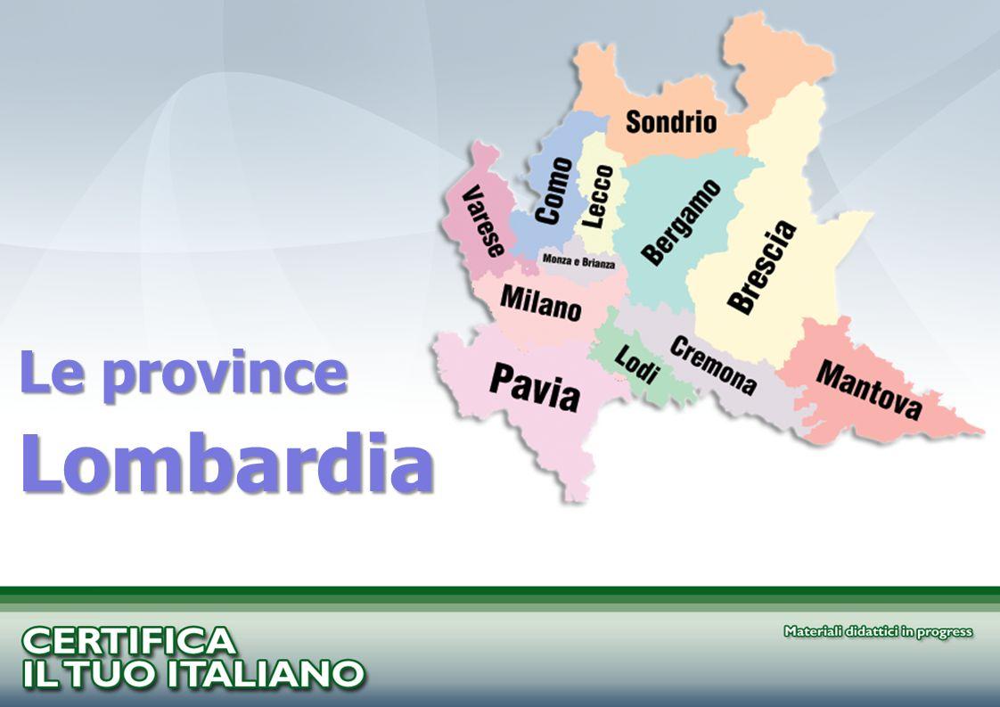 Le province Lombardia