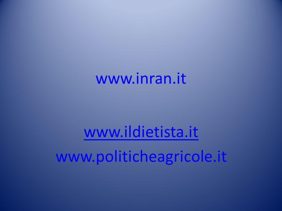 www.ildietista.it www.politicheagricole.it