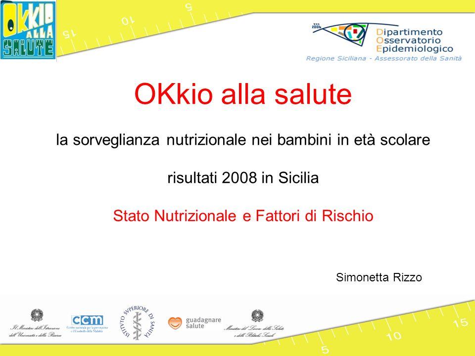 OKkio alla salute la sorveglianza nutrizionale nei bambini in età scolare. risultati 2008 in Sicilia.