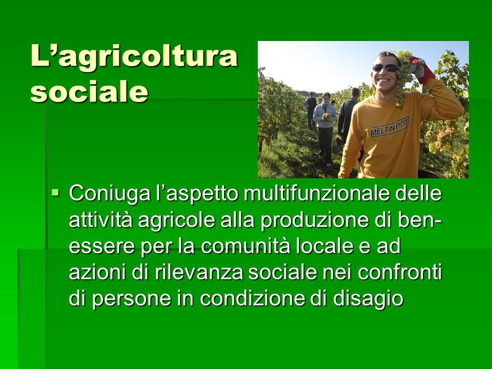L'agricoltura sociale
