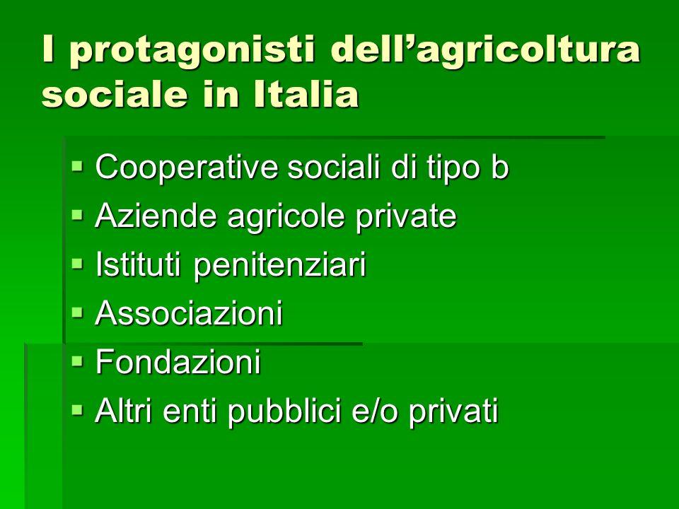 I protagonisti dell'agricoltura sociale in Italia