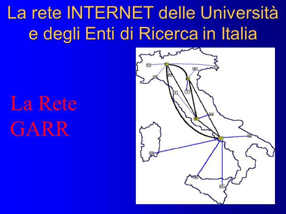 La rete INTERNET delle Università e degli Enti di Ricerca in Italia