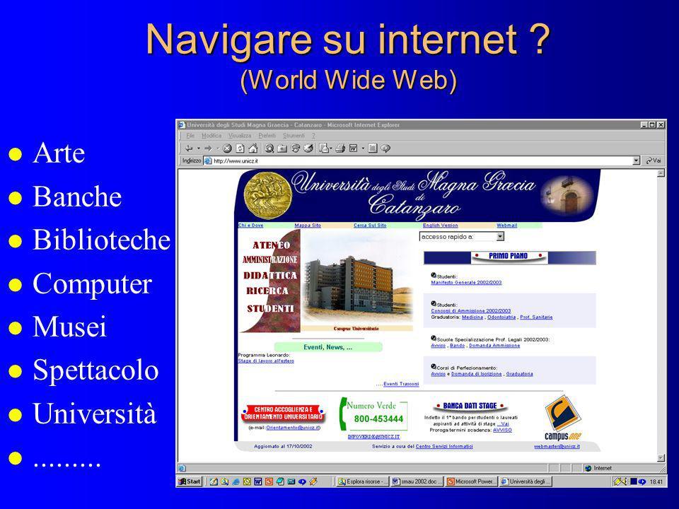 Navigare su internet (World Wide Web)