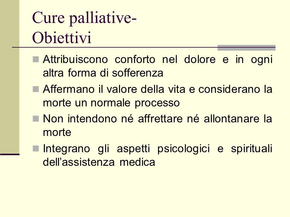 Cure palliative- Obiettivi