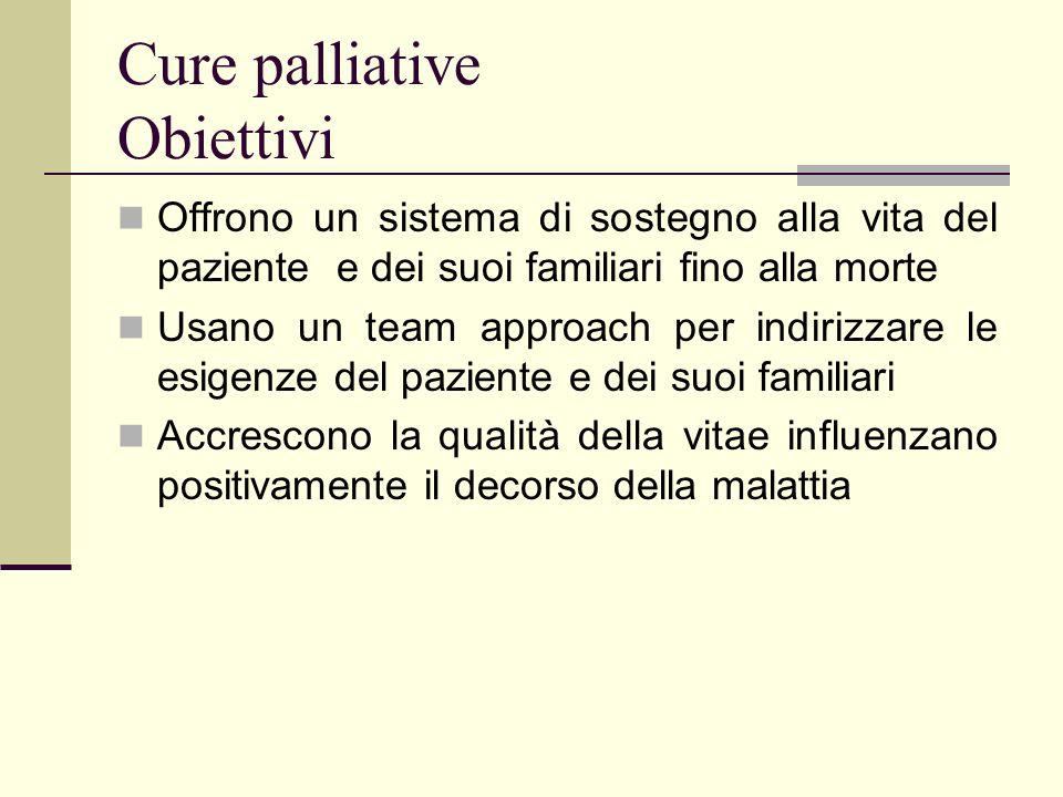 Cure palliative Obiettivi