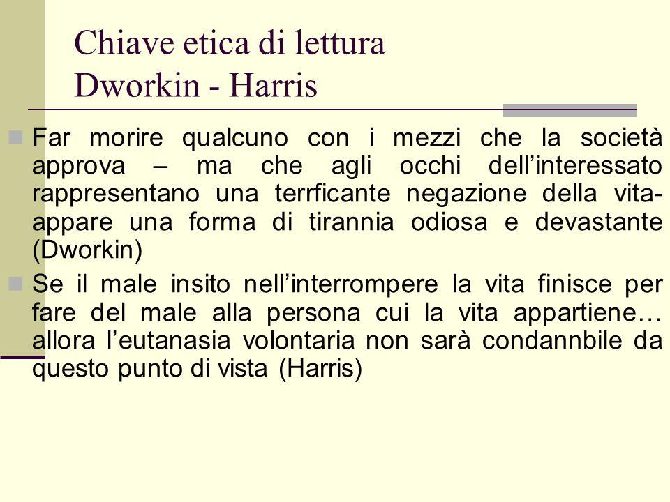 Chiave etica di lettura Dworkin - Harris