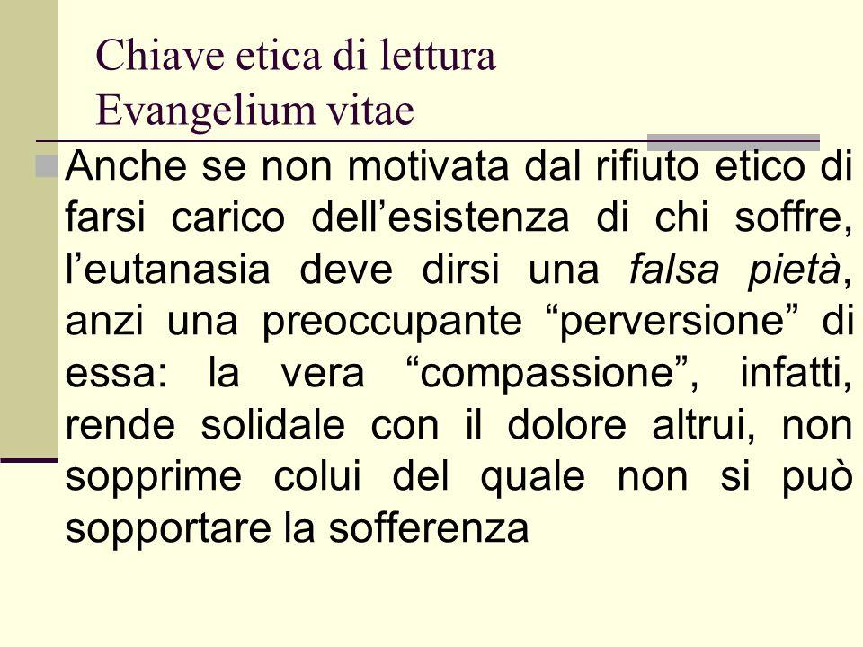 Chiave etica di lettura Evangelium vitae