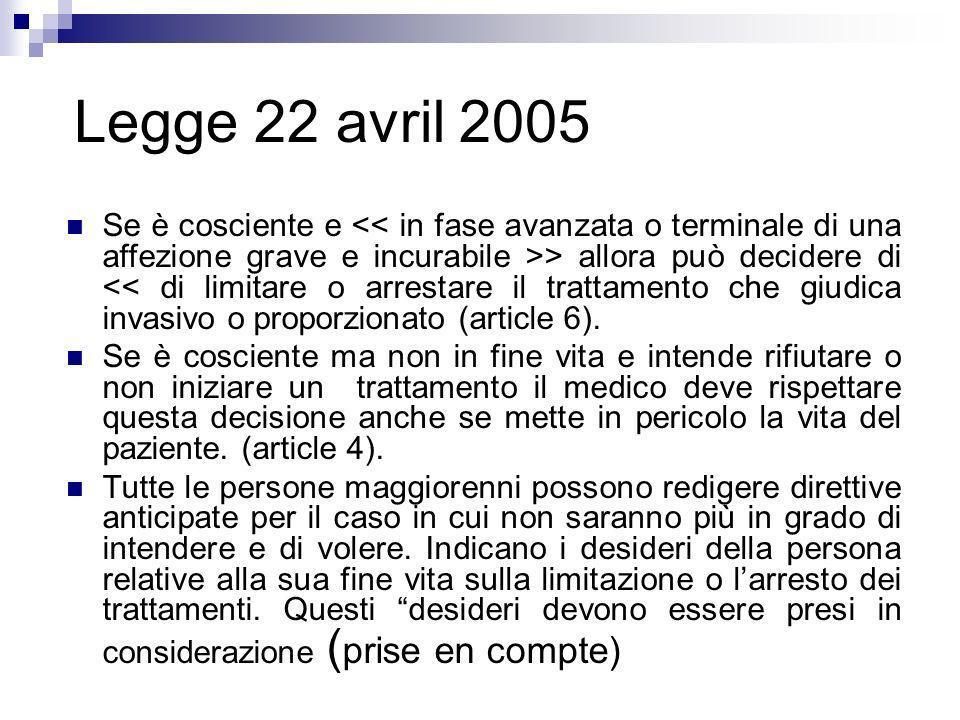 Legge 22 avril 2005