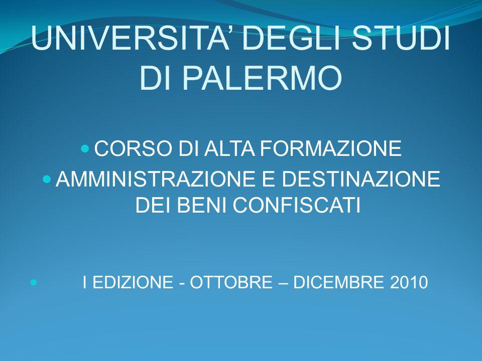 UNIVERSITA' DEGLI STUDI DI PALERMO