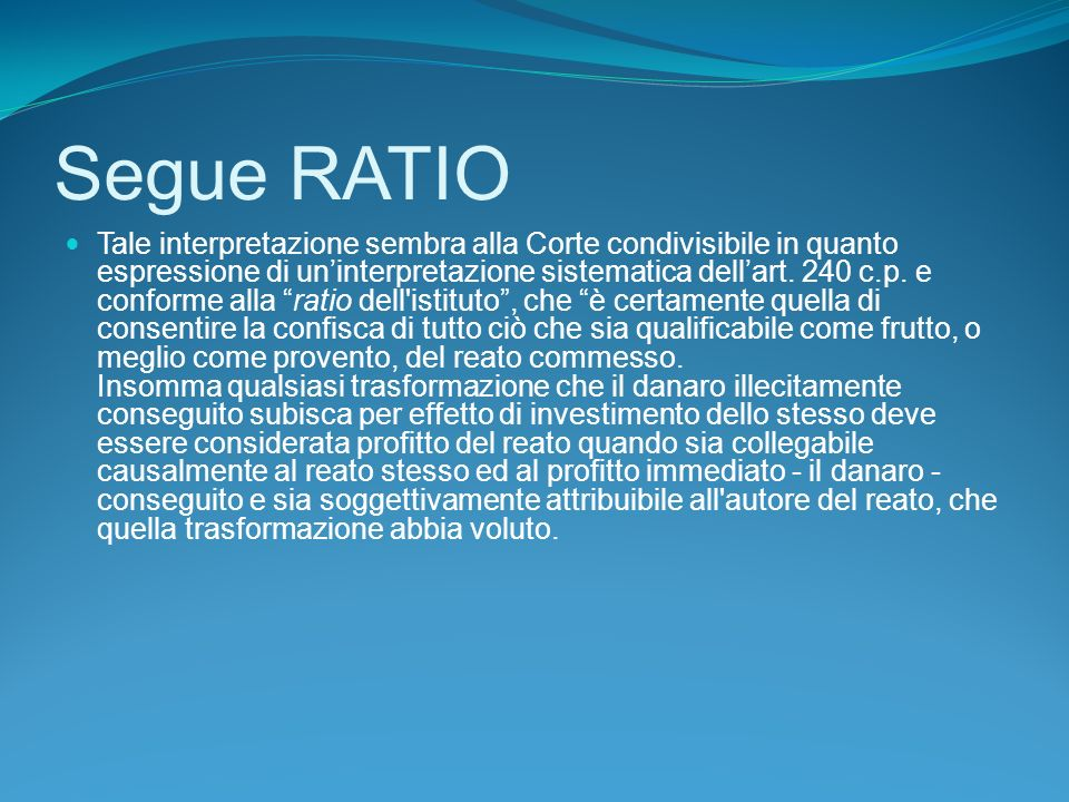 Segue RATIO