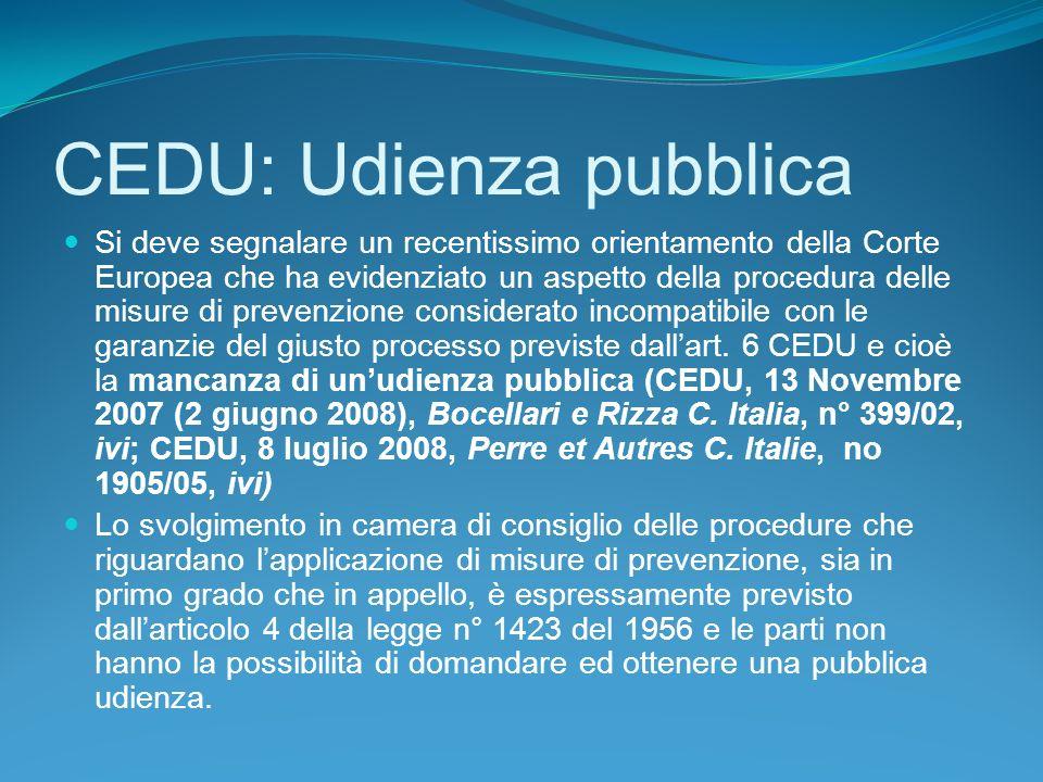 CEDU: Udienza pubblica
