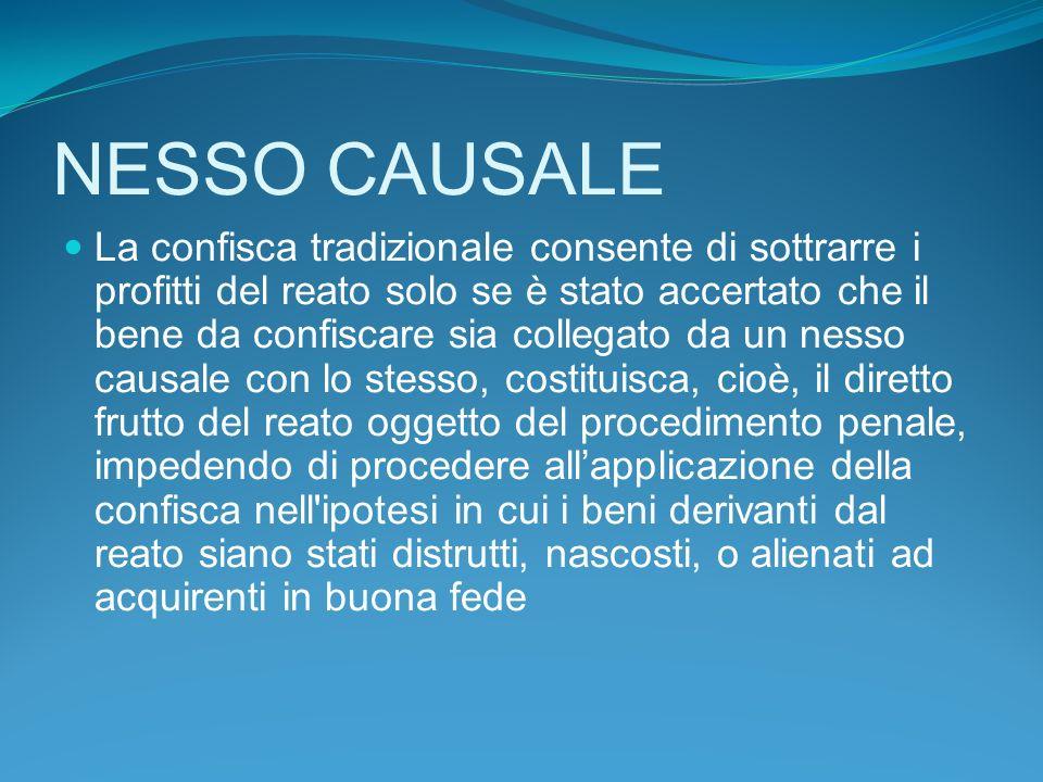 NESSO CAUSALE
