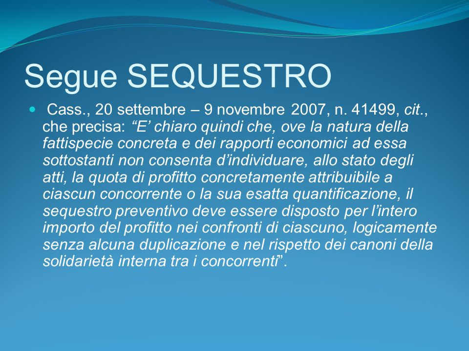Segue SEQUESTRO