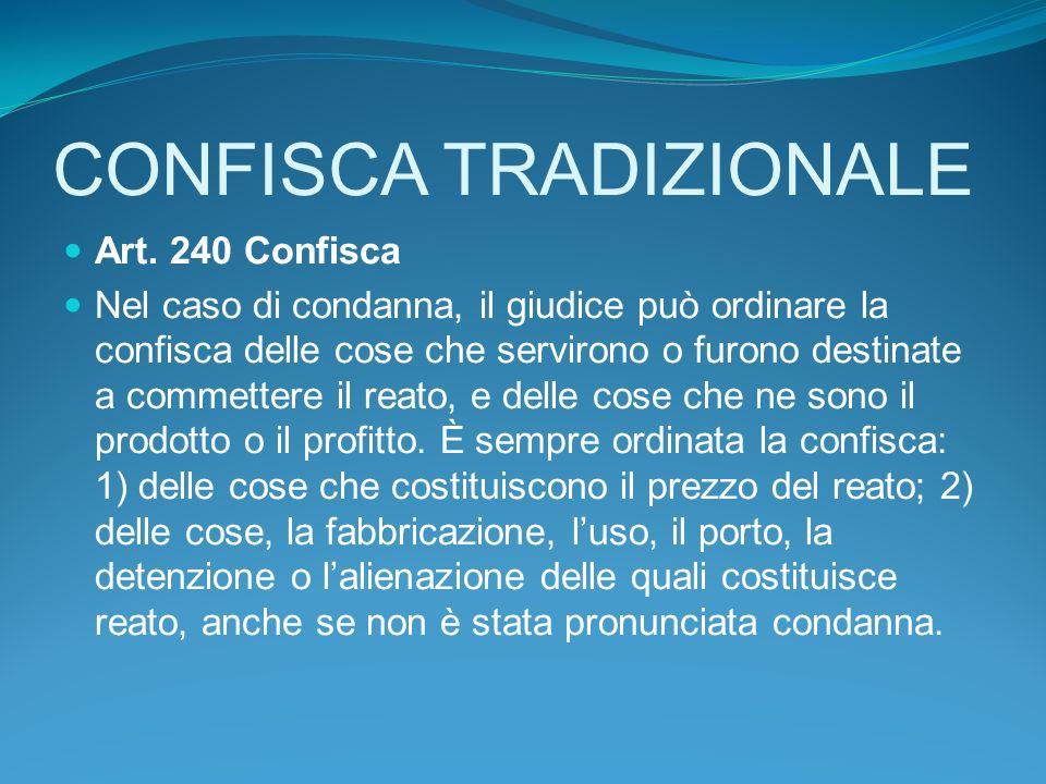 CONFISCA TRADIZIONALE