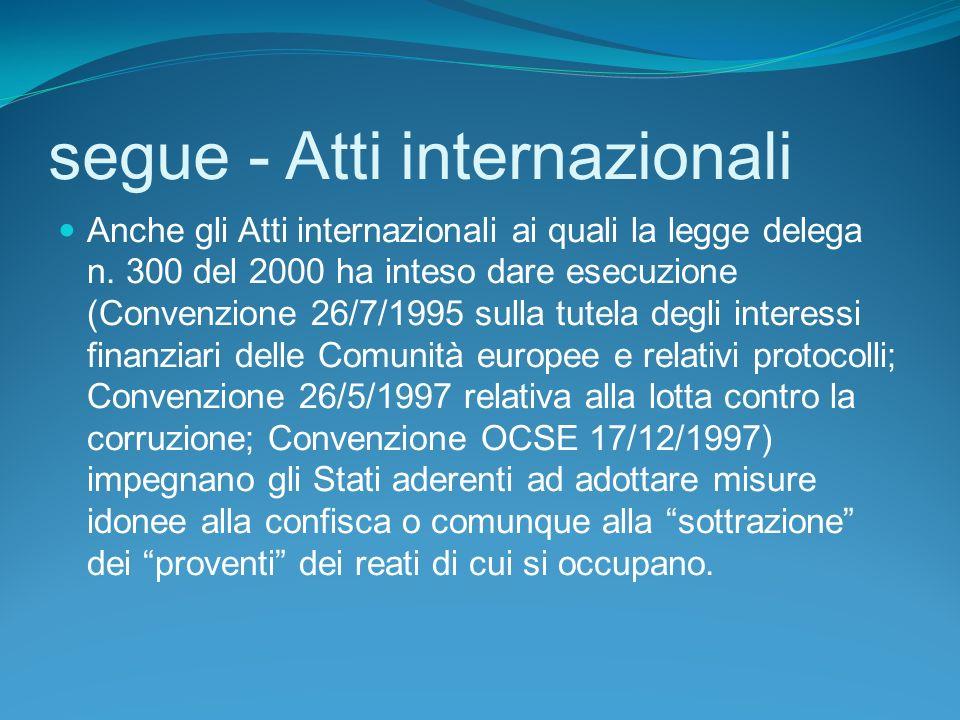 segue - Atti internazionali