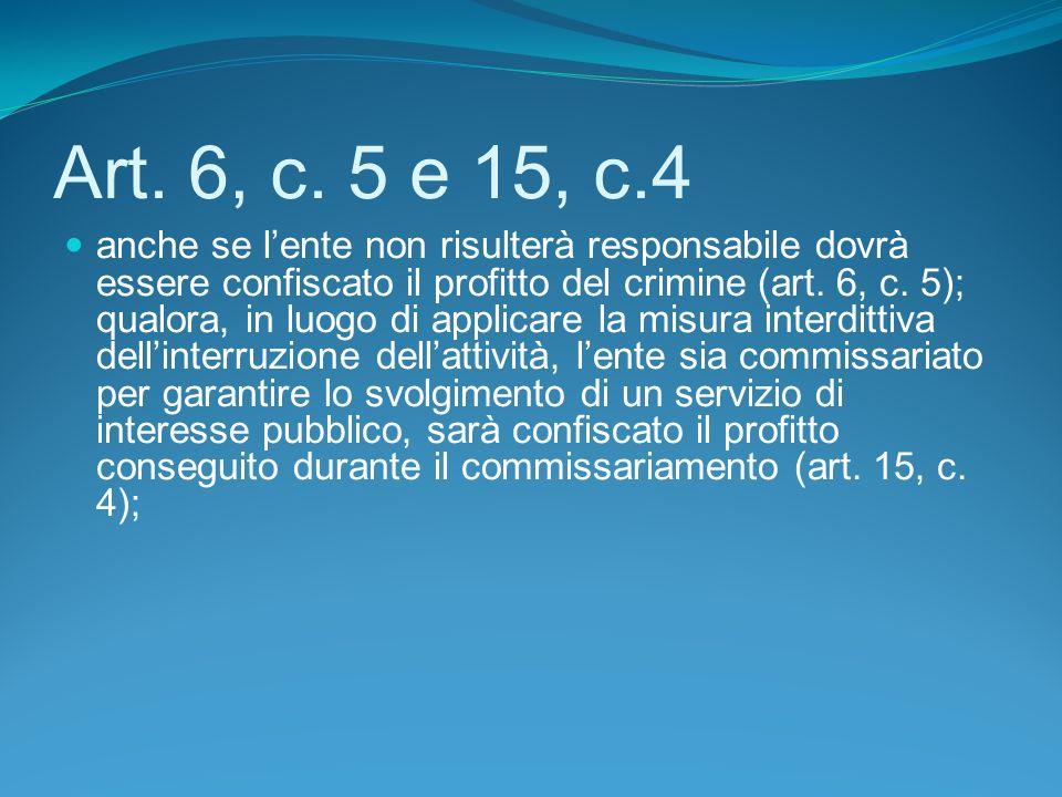 Art. 6, c. 5 e 15, c.4