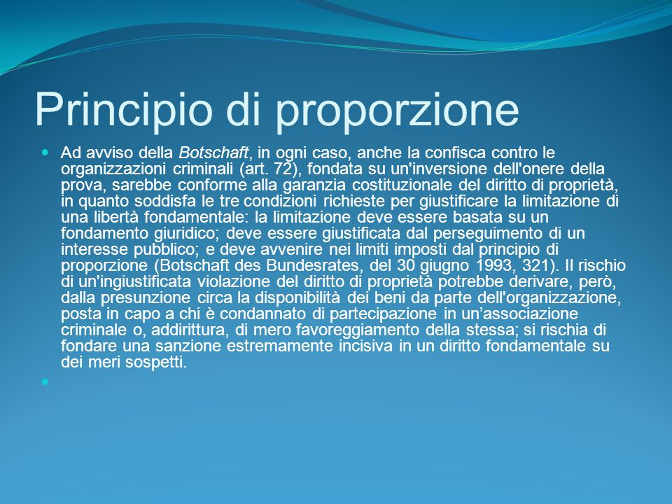 Principio di proporzione