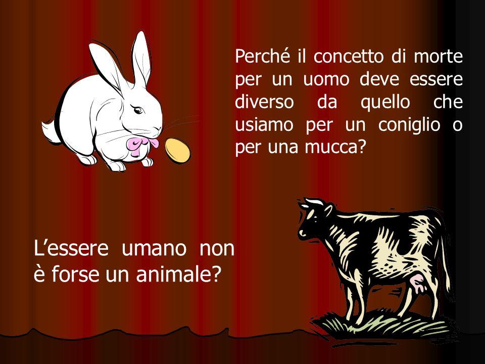 L'essere umano non è forse un animale
