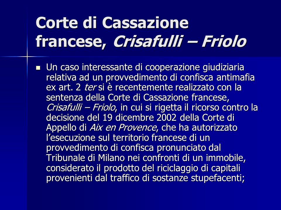 Corte di Cassazione francese, Crisafulli – Friolo