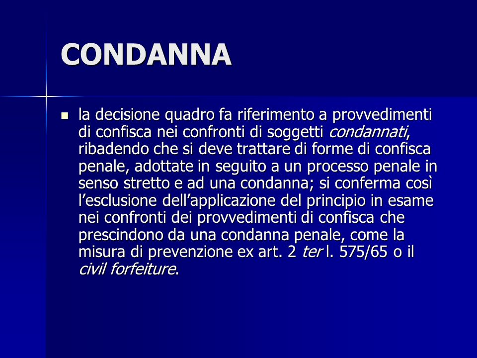 CONDANNA