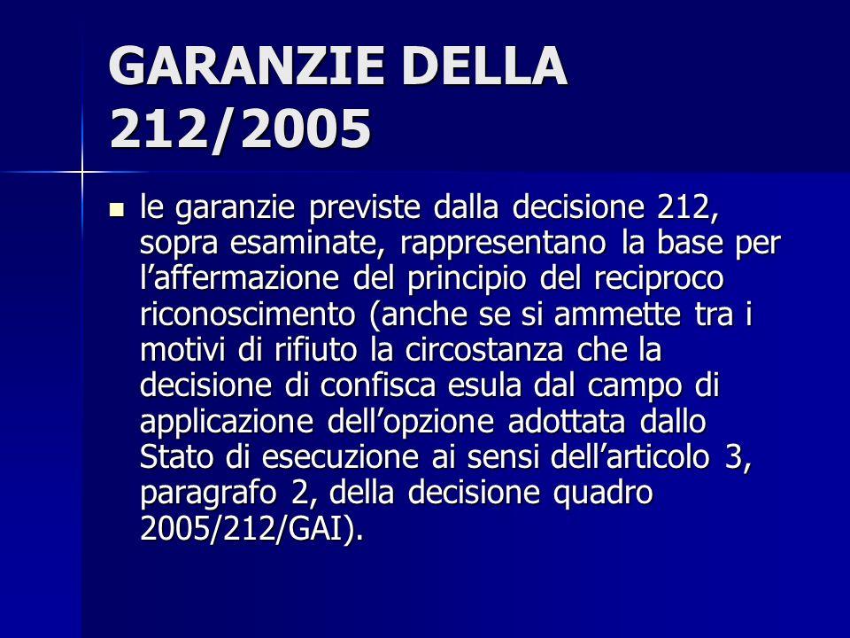 GARANZIE DELLA 212/2005