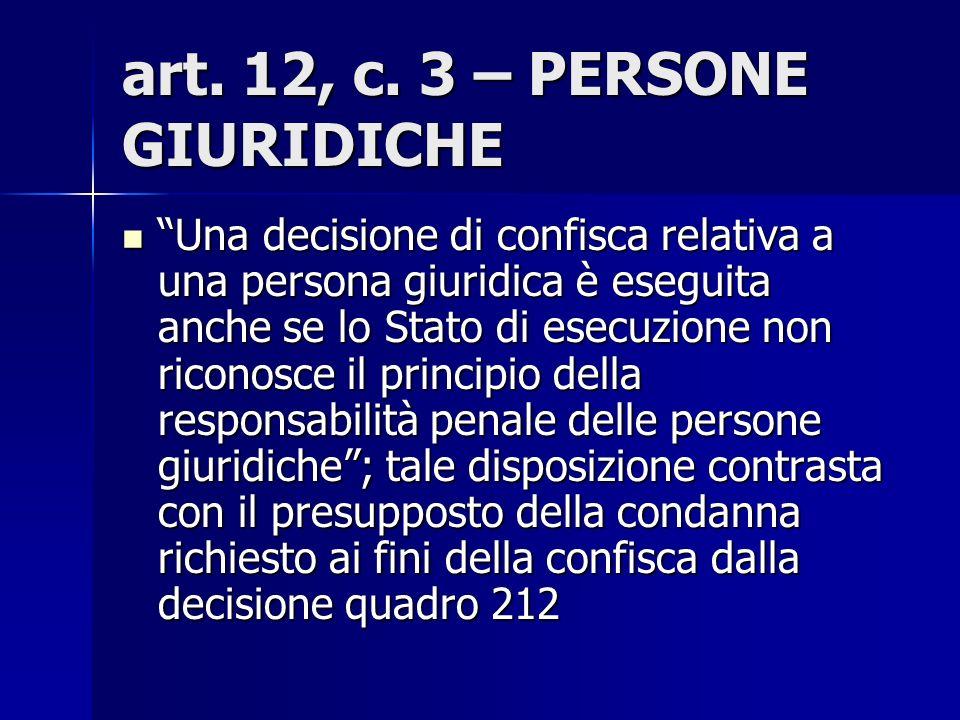 art. 12, c. 3 – PERSONE GIURIDICHE