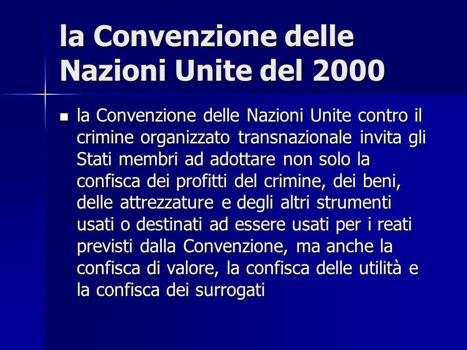 la Convenzione delle Nazioni Unite del 2000